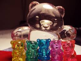 Gummy bear and kids.