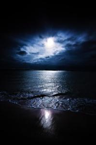 Moonlight on sea