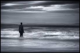 Man in night surf
