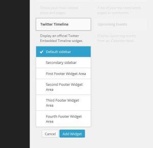 Finding Twitter Timeline Widget