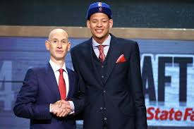 Isaiah Austin with NBA Commissioner