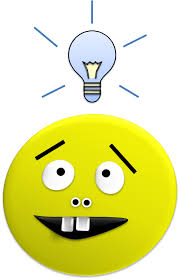 Buck Toothed Smiley with Light Bulb