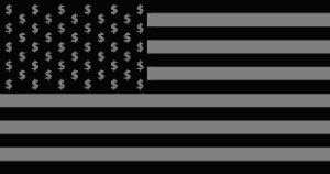 Black and White Money Flag