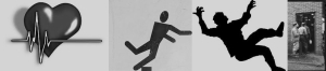 Heartbeat Stumbling Sign Man Falling Men Going in a Building