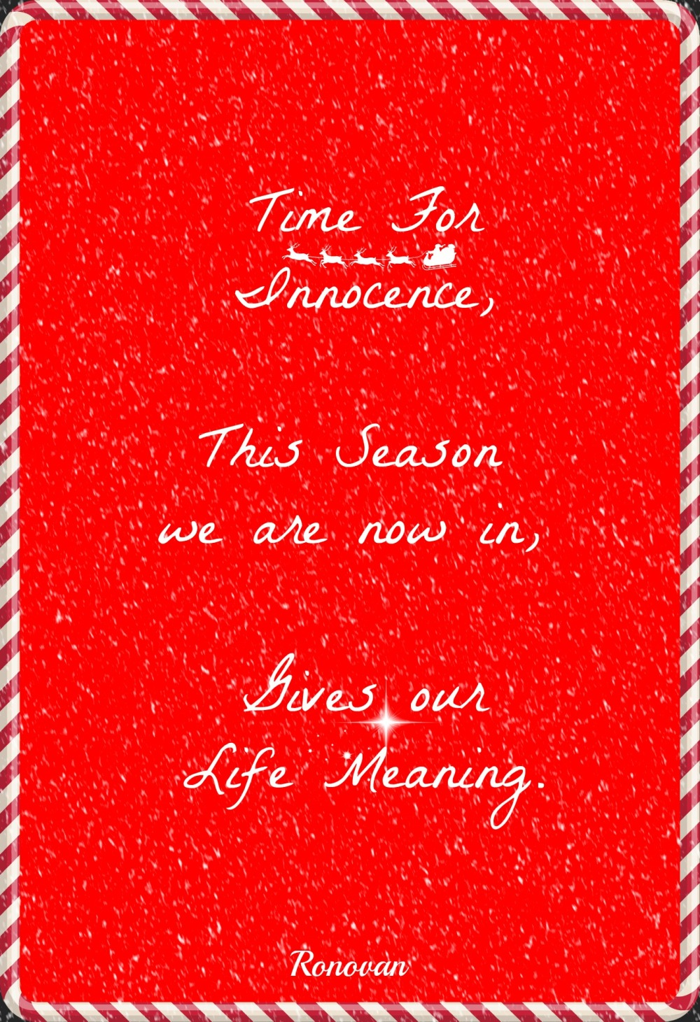 time for innocence christmas haiku image