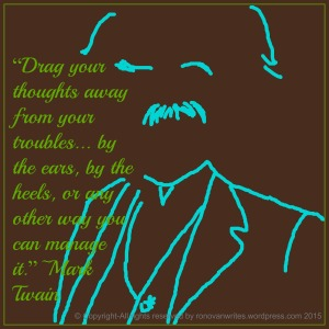 Drawing of Mark Twain with Quote