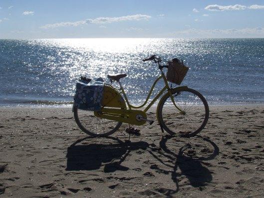 yellow-bicycle-beach