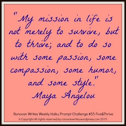 maya angelou quote for haiku challenge