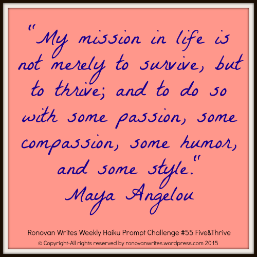 maya angelou quote for haiku challenge