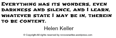 helen keller content in whatever state
