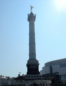 Hermes soars atop the column on the Place de la Bastille.