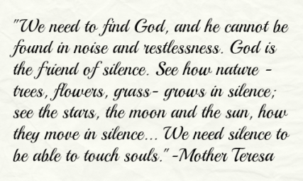 Mother Teresa Silence quote