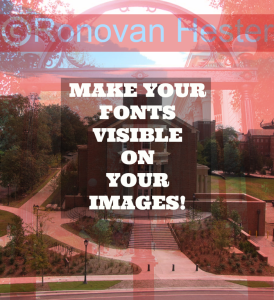 Make Your Fonts Visible