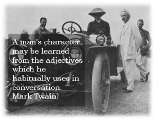 Mark Twain on Character