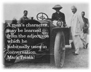 Mark Twain on Character