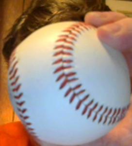 The offending baseball.