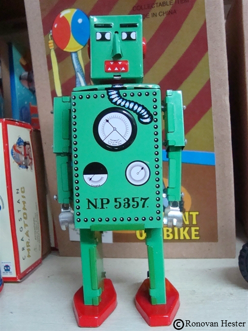 Tin Toy Robot Photography by Ronovan Hester