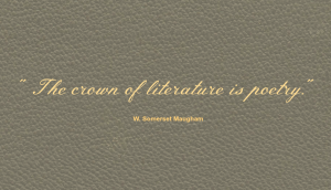 W. Somerset Maugham Poetry Quote