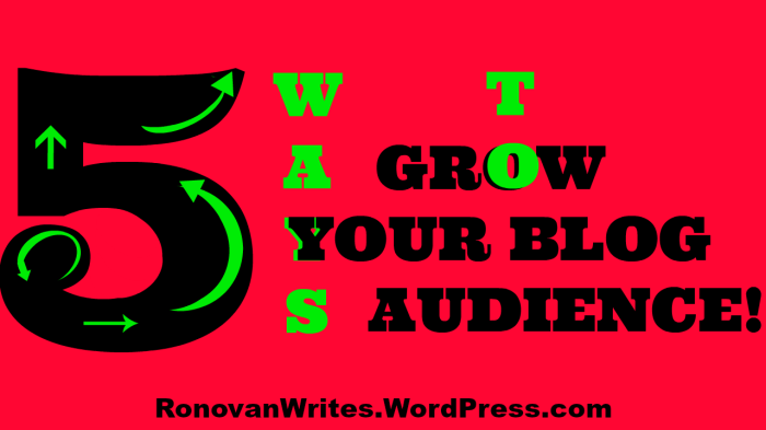 5 Ways to Grow Blog Audience