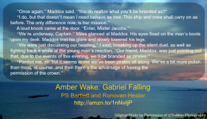Amber Wake: Gabriel Falling Quote Image