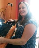 Judy Martin at the Laptop!