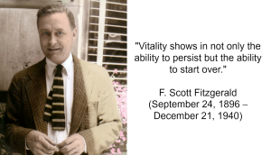 F. Scott Fitzgerald Vitality Quote