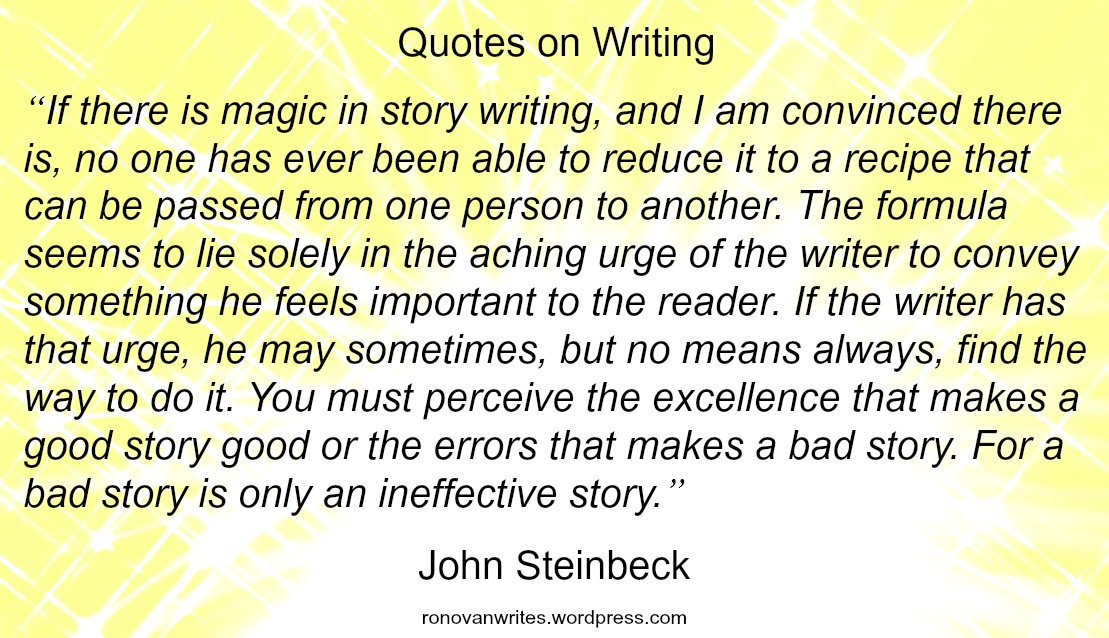 John Steinbeck: Magic in Story Writing. (A Quote ...