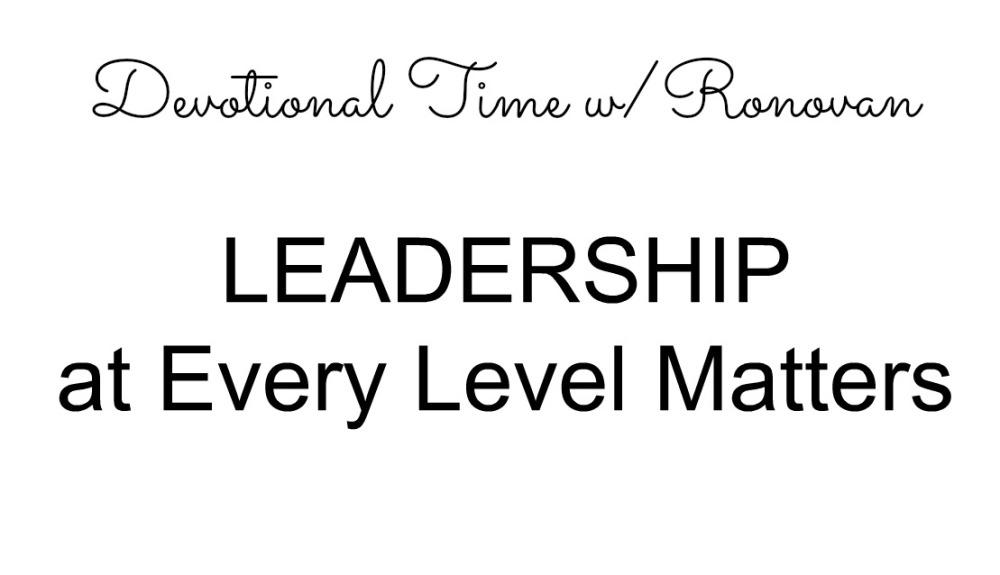Leadership Devotional