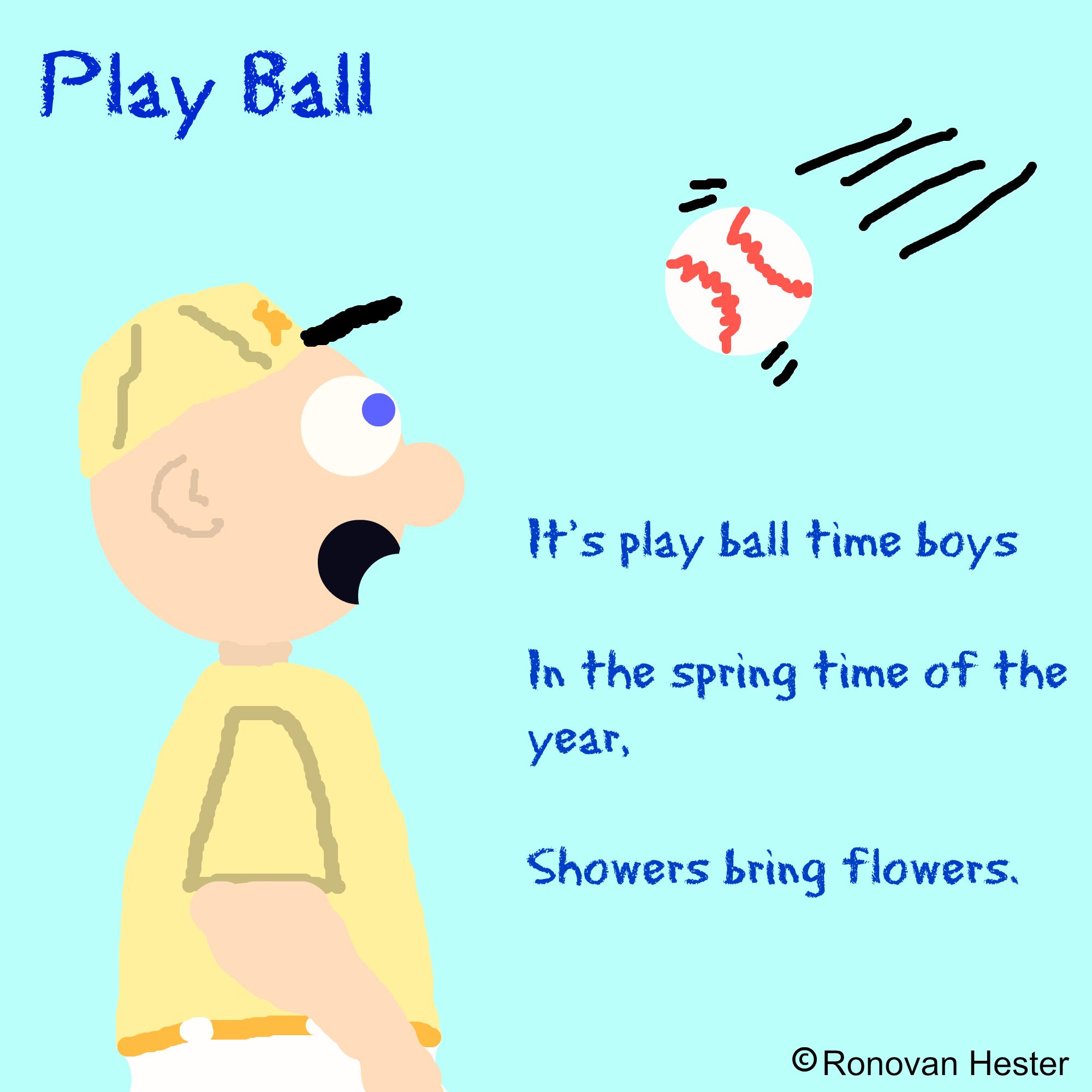 Play Ball A Haiku Poem Ronovanwrites