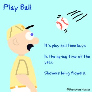play ball haiku image by Ronovan Hester