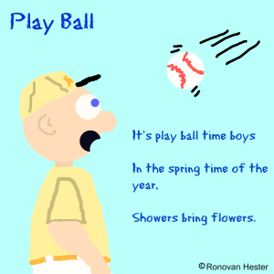 play ball haiku image by Ronovan Hester