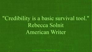 Rebecca Solnit Credibility Quote