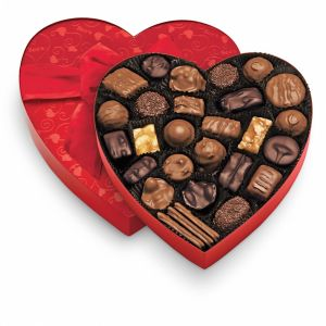 Valentine's assorted chocolate heart.