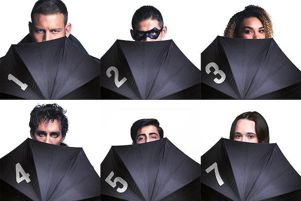 The Umbrella Academy umbrella promo photo