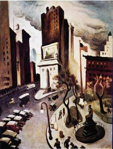 New York, Early Twenties by Thomas Hart Benton