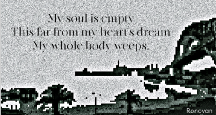 Empty Soul Haiku on B&W image.