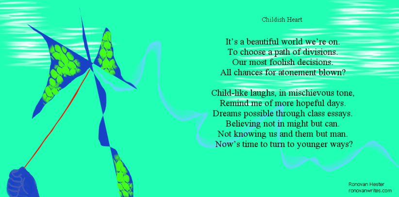Childish Heart Poetry Image.