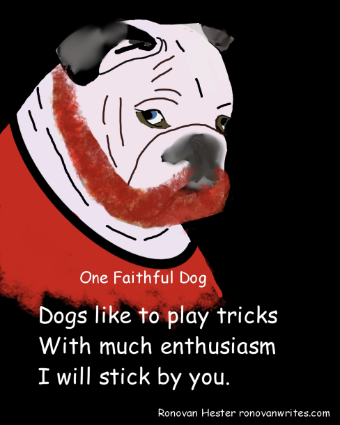 One Faithful Dog poem image Bulldog.