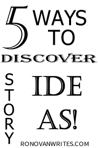 5 WAYS TO DISCOVER STORY IDAS IMAGE, BACK TEXT ON WHITE BACKGROUND