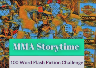 MMA Storytime's 100 Word Flash Fiction Challenge Badge Image.