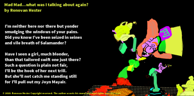 What was I talking about again poetry image Mad Hatter.