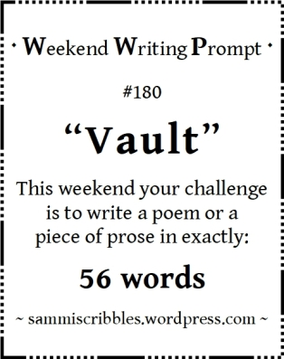Weekend Writing Prompt 180 Vault badge. Black text on white background.